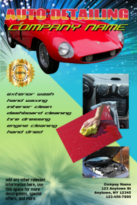 car wash car detailing flyer template