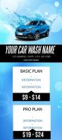 Car Wash Company Flyer Template Rack Card
