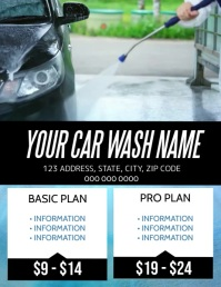 Car Wash Company Flyer Template