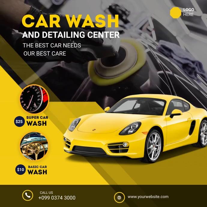 car wash Instagram Post template