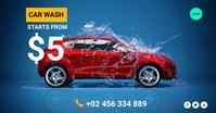 car wash Facebook Shared Image template