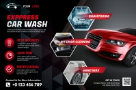 Car Wash Banner 4' × 6' template