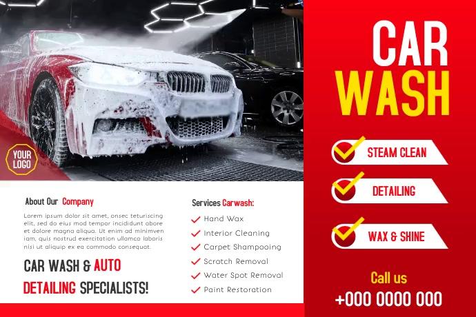 Car Wash Label template
