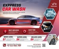 Car Wash Medium Rectangle template