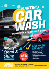 Car Wash Flyer A4 template