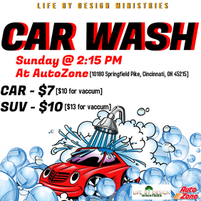 2 300 Car Wash Fundraiser Customizable Design Templates Postermywall