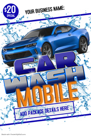 Car Wash Flyer Poster