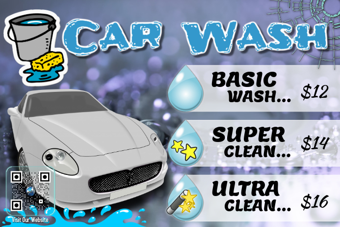 Better Car Wash flyers and poster