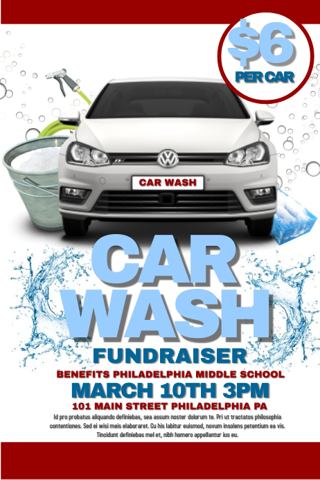 customizable design templates for car wash fundraiser postermywall