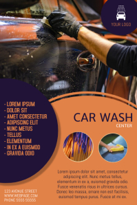 Car Wash Flyer Template Poster