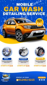 car wash flyer template Digital Display (9:16)