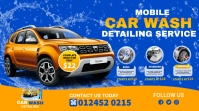 car wash flyer template Twitter Post