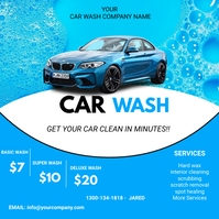 Car wash flyers Instagram na Post template