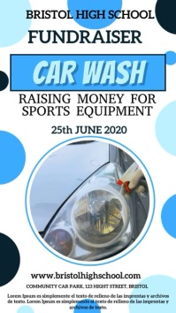 Car Wash Fundraiser Digital Template