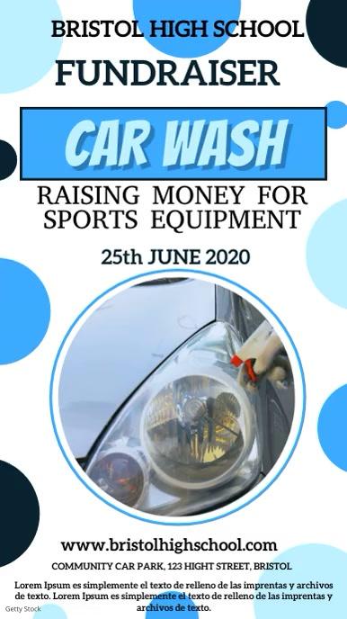 Car Wash Fundraiser Digital Template