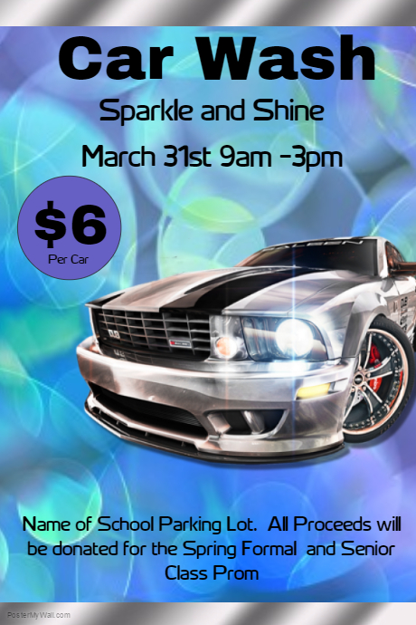 car wash fundraiser flyer customize template