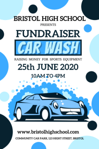 Car Wash Fundraiser Poster Template