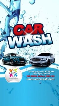 Car Wash Fundraising Video Post Digital Display (9:16) template