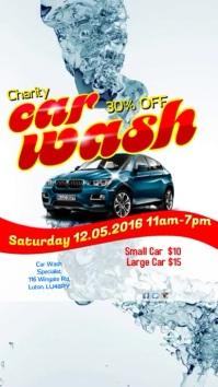 Car Wash instagram template 数字显示屏 (9:16)