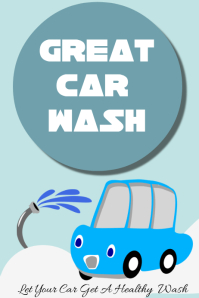 Car washing poster for your business