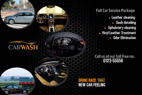 Car Wash Poster Template Regard To Auto Detailing Flyer Template
