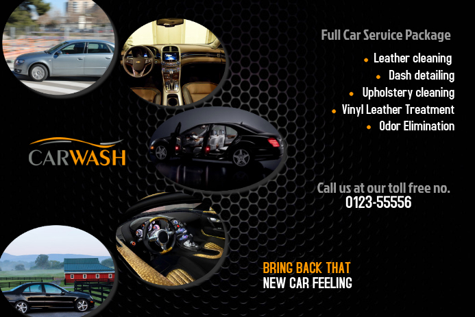 car wash flyer templates postermywall