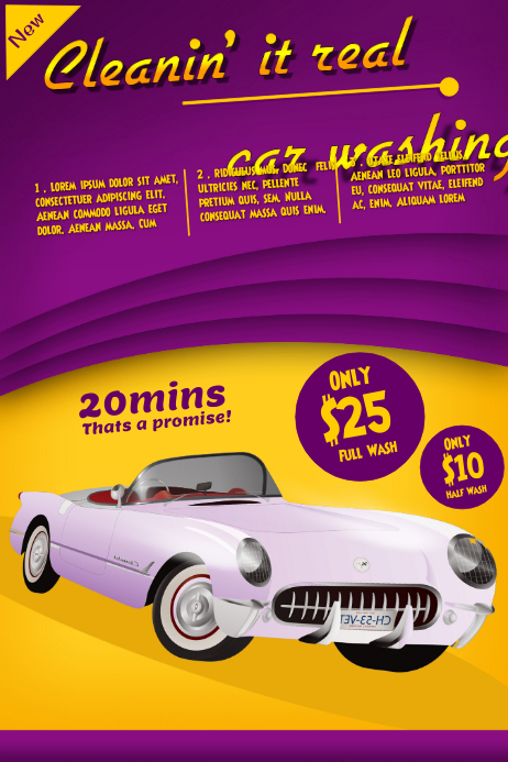 Car Wash Flyer Templates | Postermywall