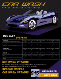 Car Wash Price List Flyer Template