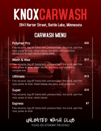 car wash price list template