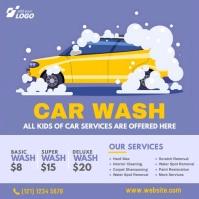 Car Wash Service Ad Publicación de Instagram template