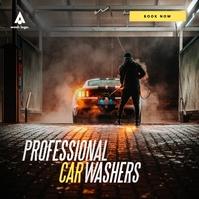 Car Wash/Service Ad Square (1:1) template