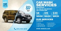 Car Wash Service Advert Facebook Shared Image template