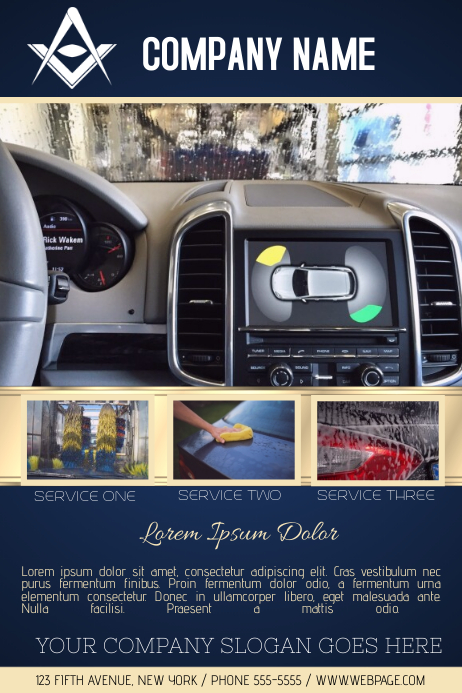 Car Wash Service Business Flyer Template  Auto Detailing Flyer Template