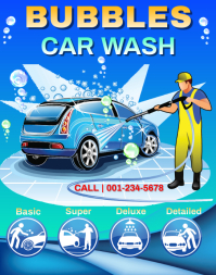 Car Wash Service Poster/Wallboard template