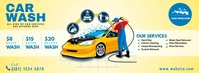 Car Wash Service Couverture Facebook template