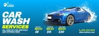 Car Wash Service Portada de Facebook template