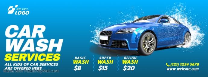 Car Wash Service Facebook 封面图片 template