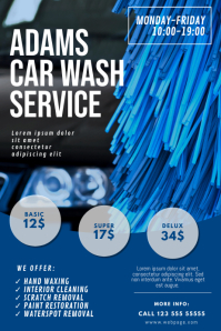 Car Wash Service Flyer Design Template