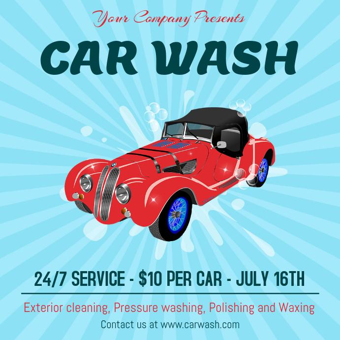 Car Wash Service Instagram Post Template