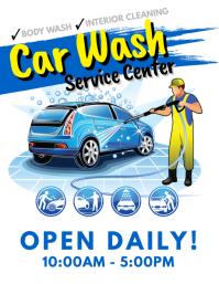 Car Wash Service Flyer  Auto Detailing Flyer Template