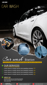 Car wash service station Instagram Story template
