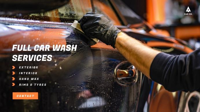 Car Wash/Service Video Ad 数字显示屏 (16:9) template