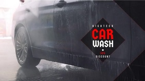 Car Wash/Service Video Ad Ekran reklamowy (16:9) template