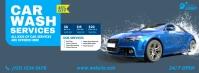 Car Wash Services Ad Cover na Larawan ng Facebook template