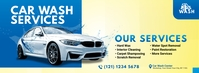 Car Wash Services Ad Facebook Cover Photo template