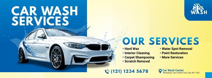 Car Wash Services Ad Foto Sampul Facebook template