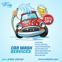 Car Wash Services Ad Instagram Post template