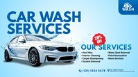 Car Wash Services Ad Twitter Post template