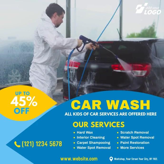 Car Wash Services Vierkant (1:1) template