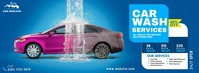 Car Wash Services Portada de Facebook template